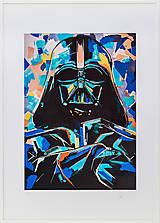 Grafika - Print A3 na papieri A2 z originál obrazu Darth Vader II. - 8426843_