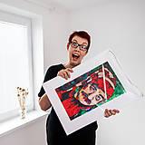 Grafika - Print A3 na papieri A2 z originál obrazu Július Satinský - 8426879_