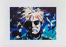 Grafika - Print A3 na papieri A2 z originál obrazu Abstraktný portrét IV. - 8426917_