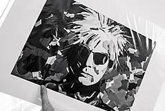 Grafika - Print A3 na papieri A2 z originál obrazu Abstraktný portrét IV. - 8426919_