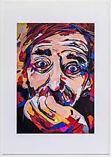 Grafika - Print A3 na papieri A2 (v ráme) z originál obrazu  Abstraktný portrét I. - 8426971_