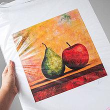 Grafika - Print A3 na papieri A2 z originál obrazu Hruška a Jablko - 8426743_