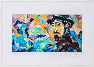 Grafika - Print A3 na papieri A2 z originál obrazu Abstraktný portrét XVI. - 8426937_