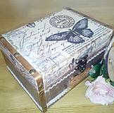Šperkovnica truhlica Motýľ Avril