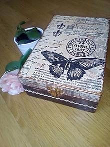 Krabičky - Čajovka - Motýľ AVRIL nielen na čajové vrecúška - 8426551_