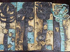 Dekorácie - Keramika, Stromoví Tyrkys - 8426598_