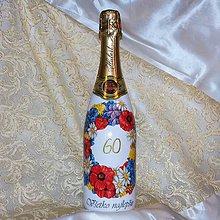 Nádoby - Fľaša k jubileu Šampanské k 60-ke - 8426494_