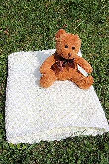 Textil - Háčkovaná deka pro miminko, Smetanová 2 - 8427346_