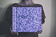 Fotoalbum kalsický polyetylénový obal so kockovanou potlačou