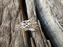 Prstene - Prepletenosť guličková v striebre - 8426082_