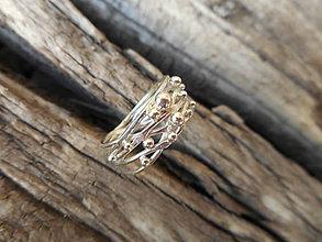 Prstene - Prepletenosť guličková v striebre - 8426081_