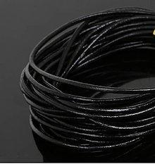 Galantéria - SK102 Šnúrka kožená 2 mm (čierna guľatá 2 mm) - 8427525_
