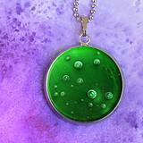 Náhrdelníky - Hviezdna hmlovina - autorský náhrdelník malý - 8427848_