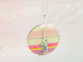 Náhrdelníky - Delfín s pásikmi - náhrdelník - 8426435_