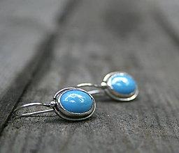 Náušnice - Modrá nálada - 8426597_