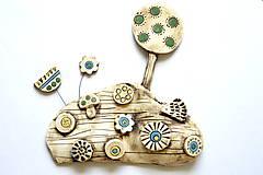 Socha - Keramická dekorácia Rozkvitnutá lúka s ježkom a hríbikom - 8427463_