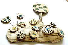 Socha - Keramická dekorácia Rozkvitnutá lúka s ježkom a hríbikom - 8427464_
