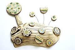 Socha - Keramická dekorácia Rozkvitnutá lúka - 8427500_
