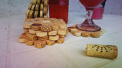 Pomôcky - Nalejme si čistého vína- korkové podšálky - 8426207_