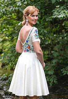Šaty - Maľované maslové šaty... - 8427488_