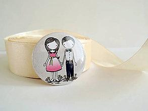 Darčeky pre svadobčanov - Len ja a môj svet - odznak 37 mm - 8428044_
