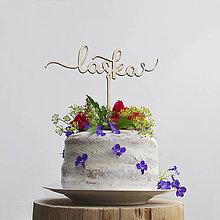Darčeky pre svadobčanov - LÁSKA zápich na tortu - 8428337_