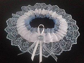 Bielizeň/Plavky - Modrý svadobný podvazok - 8429845_