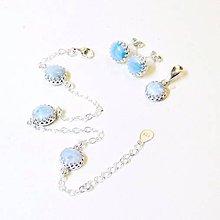 Sady šperkov - Vintage Larimar Silver Set ag 925 / Sada strieborných šperkov s larimarom /0529 - 8429088_