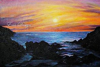 Obrázky - Východ slnka - olejomaľba - 8429420_