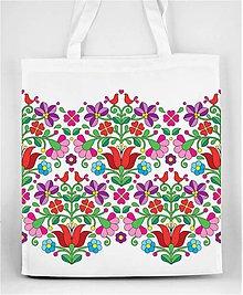 Nákupné tašky - Nákupná taška farebné folk kvety 04 - 8429058_
