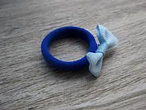 Ozdoby do vlasov - Gumička do vlasov s mašličkou modrá č.1147 - 8429382_