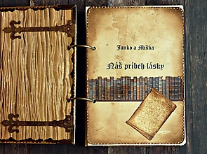 Papiernictvo - Kniha: Náš príbeh lásky/zápisník lásky,kronika lásky - 8430226_