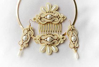 Sady šperkov - Svadobná soutache sada - 8429664_