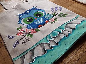 Nákupné tašky - Ručne maľovana taška- sova - 8429075_