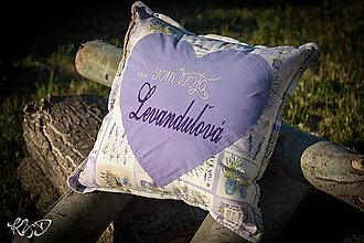 """Úžitkový textil - Vankúšik """"... som Tvoja Levanduľová"""" - 8432911_"""