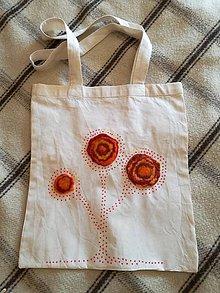 Nákupné tašky - Taška oranžový strom - 8431169_