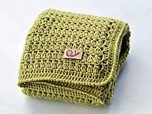 Textil - Detská deka MERINO: limetka - 8431146_