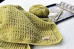 Textil - Detská deka MERINO: limetka - 8431151_