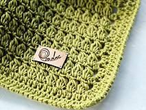 Textil - Detská deka MERINO: limetka - 8431155_