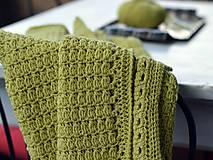 Textil - Detská deka MERINO: limetka - 8431160_