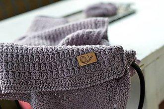 Textil - Detská deka MERINO: levandulová - 8431121_