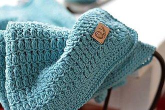 Textil - Detská deka MERINO: svetlá tyrkysová - 8431144_