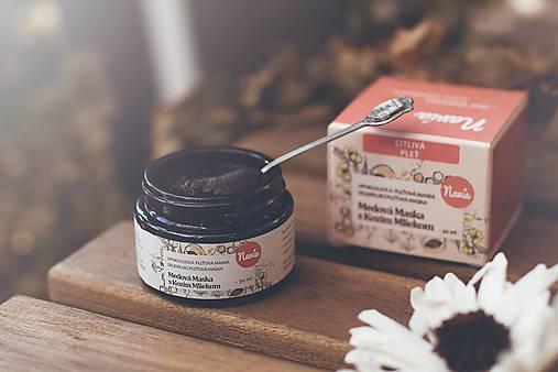 Upokojujúca Medová Maska s Kozím Mliekom pre Suchú/Citlivú Pleť