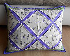 Úžitkový textil - Vankúš - kvetinkový - 8431916_