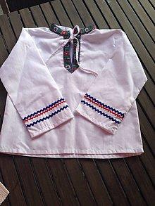 Košele - Chlapčenská Folk košeľa - 8432304_