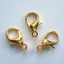 Komponenty - Karabínka (14mm-zlatá-1ks) - 8433425_