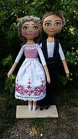 Bábiky - Svadobný pár - 8432555_