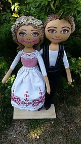 Bábiky - Svadobný pár - 8432556_