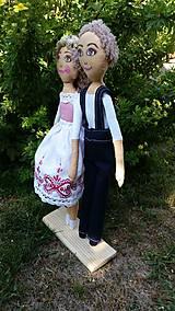 Bábiky - Svadobný pár - 8432558_