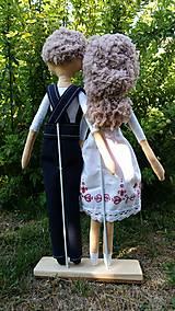 Bábiky - Svadobný pár - 8432561_